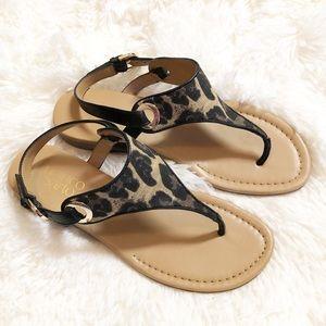 Franco Sarto Leopard Sandals - like new!